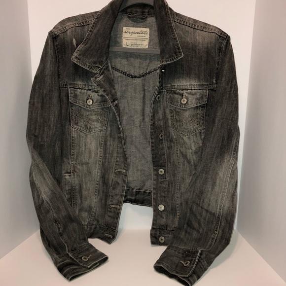 Aeropostale Jackets & Blazers - Aeropostale Charcoal Denim Jacket